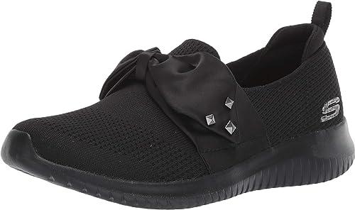 Skechers, scarpe da donna per la notte, ultra flessibili, satinate, alla caviglia