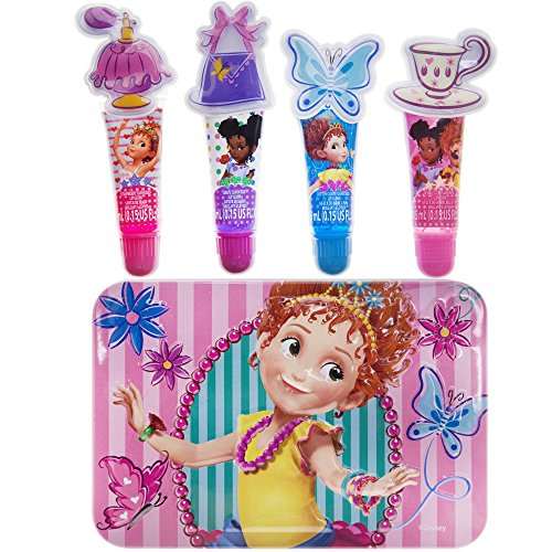 Price comparison product image TownleyGirl Fancy Nancy Lip Tube With Storage Tin,  Contains 4 Tubes