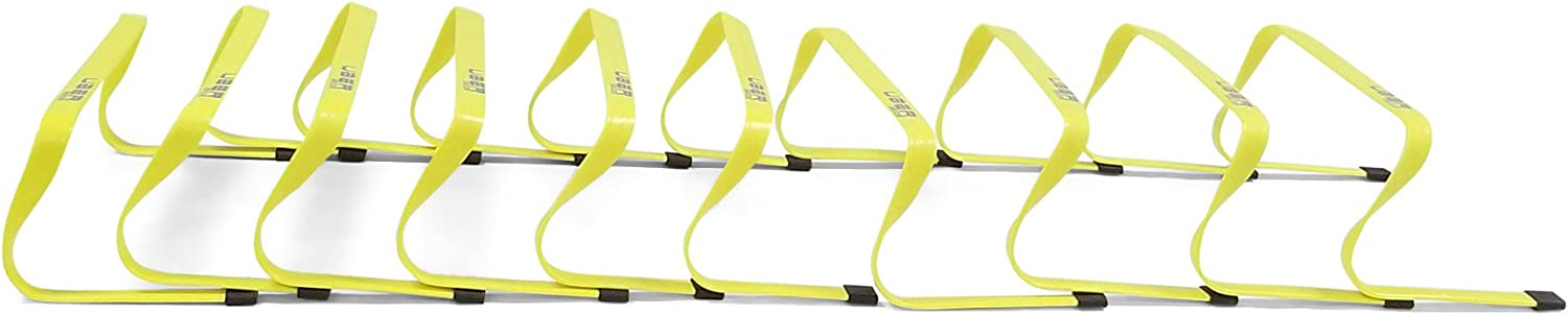 Uber Soccer 6 inch Speed and Agility Hurdle 10 Pack