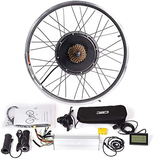 CSCbike MTB E-Bike Conversion Kit 36 48V Mountain Electric Bicycle Rear Wheel Conversion Parts with KT LCD3 Display Controller PAS Brake Lever