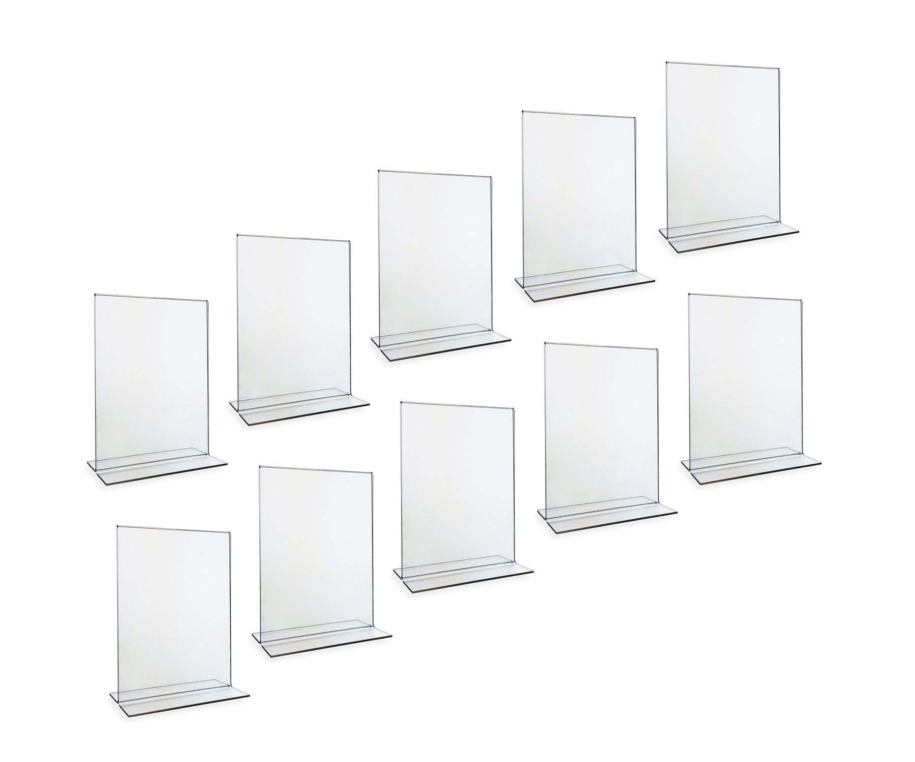 Beryland Acrylic Sign Holder and Menu Holder, 5 x 7 inches, 10-Pack of Sign Holders (Box of 10)