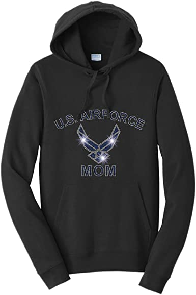 Beckys Boutique Air Force Mom 3 Armed Forces Spangle Rhinestone Bling Shirt