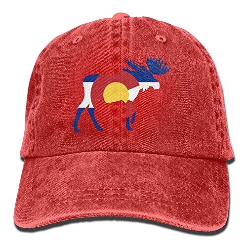 3157c3f3ead8f PENN-TNT Unisex Adult Colorado Flag Deer Washed Denim Retro Cowboy Style Baseball  Hat Sun