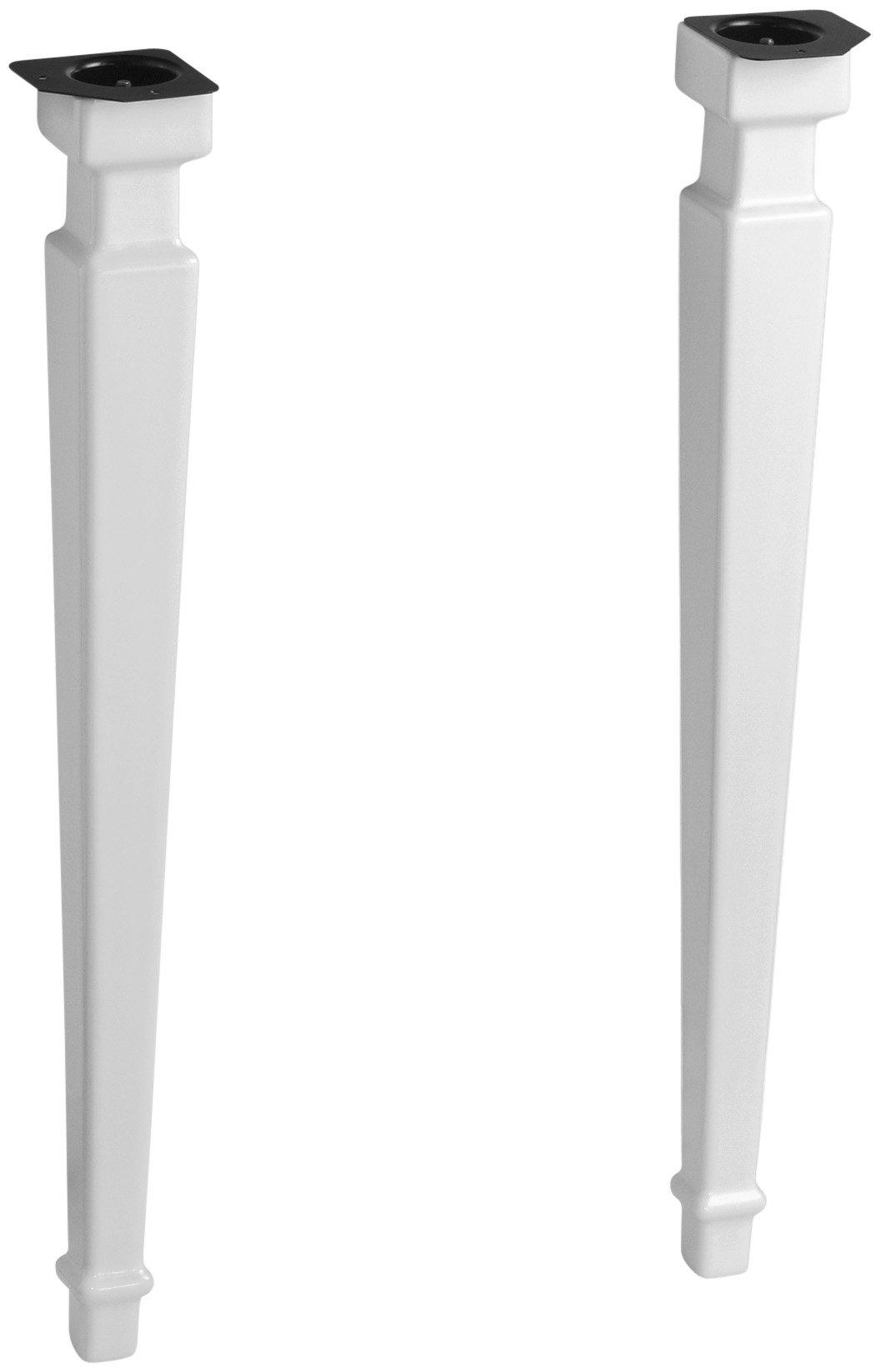 KOHLER K-2318-0 Kathryn Square Fireclay Legs, White by Kohler