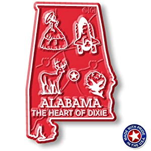 Alabama State Map Magnet