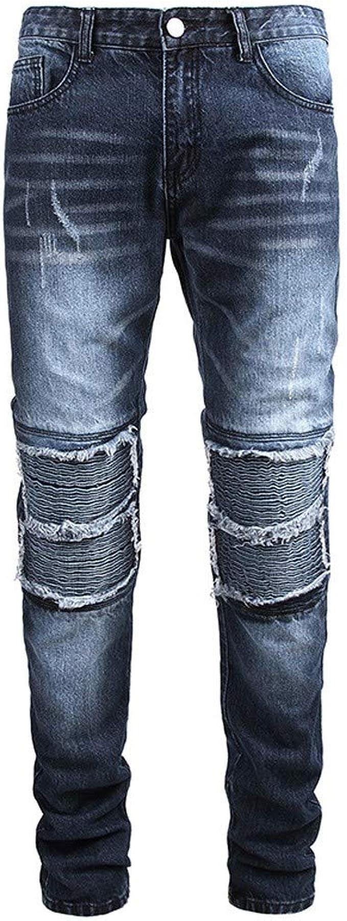 NPHOME - Pantalones Vaqueros Largos para Hombre, a la Moda, a la ...