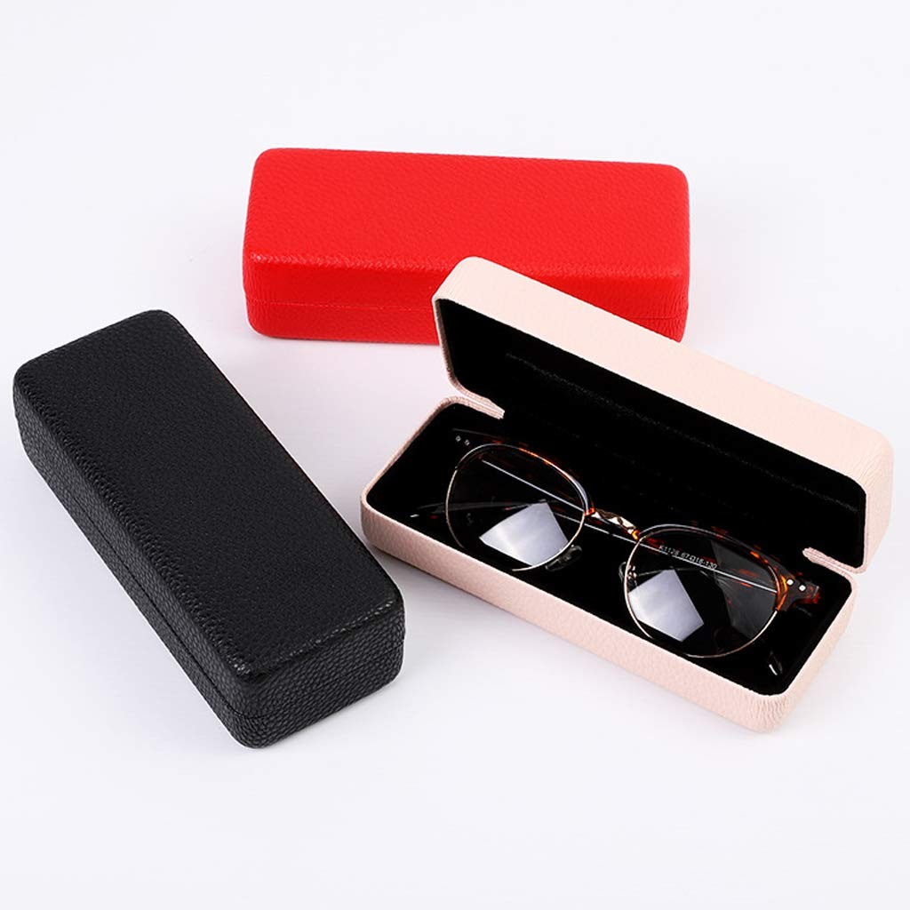 Easy Close off Fityle Luxurious Eye Glasses Sunglasses Holder Box Portable Eyeglasses Hard Case Protector