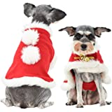Bokeley Pet Christmas Cloak Costume with Bells Pet Clothes Apparel Outfit Dress-up for Puppy Small Cats Dogs