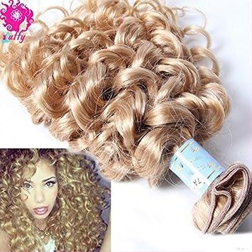 Amazon luffywig 10a brazilian blonde curly hair extensions luffywig 10a brazilian blonde curly hair extensions loose kinky curly virgin hair bundles 27 brazilian pmusecretfo Choice Image