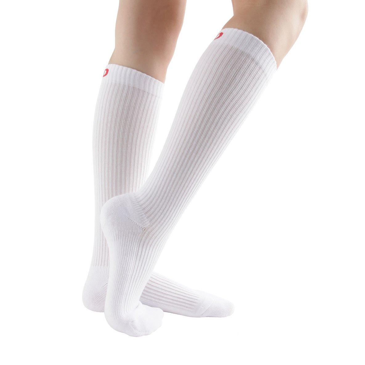 Anti-DVT Athletic Varicose Veins 6 Pairs Compression Socks Edema Shin Splints 3Black3WhiteM for Women /& Men Cushion Knee High Socks for Running 8-15mmHg Travels Nurses Medical