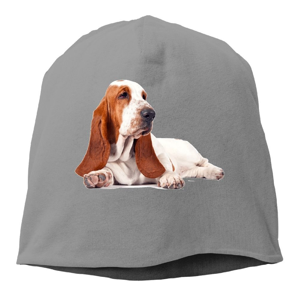 Janeither Headscarf Basset Hound Dog Lovers Hip-Hop Knitted Hat for Mens Womens Fashion Beanie Cap