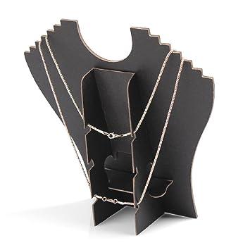 Bodbii Schwarz Mannequin-Halsketten-Anh/änger-Ausstellungsstand-Halter-Erscheinen Schm/ücken Kette Schmuck B/üste Halter Halskette Display-St/änder Bust Organizer