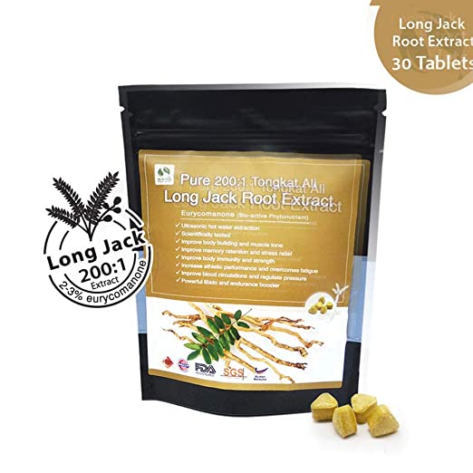 Amazon.com: Malasia Pure 200:1 Long Jack Tongkat Ali Root ...