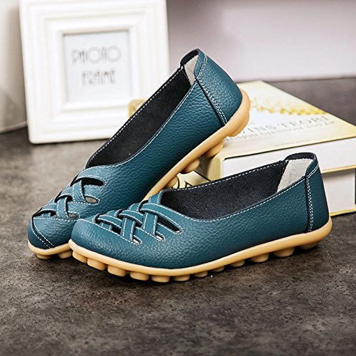 Cior Women S Genuine Leather Loafers Casual Moccasin Driving Shoes