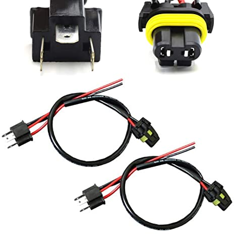 iJDMTOY H4 9003 HB2 Wire Harness for Xenon Ballast to Stock Socket for  Xenon Headlight Kit