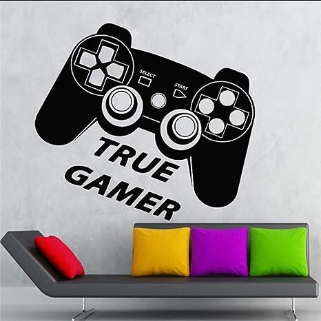zlhcich Tatuajes De Pared True Gamer Room Room Play Joystick Video ...