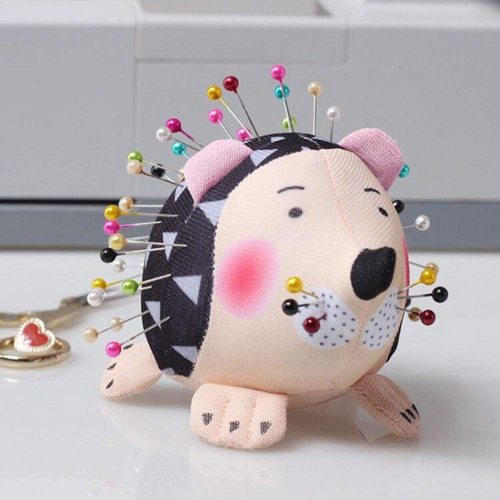 Pincushions - New Hedgehog Shape Cute Sewing Pincushion Cotton Fabric Pin Cushion Pin Patchwork Holder Arts Crafts Sewing Pincushions by Laliva