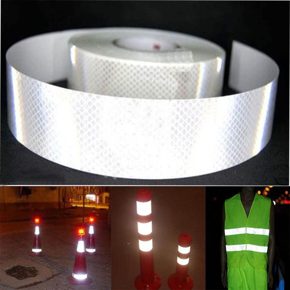 Reflective 3 meter Silver White Safety Warning Conspicuity Tape Film Sticker