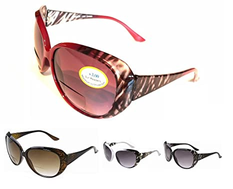 Bifocal Sunglasses Ladies Stylish PR19 Full UV400 Protection plus Pouch /& Cloth