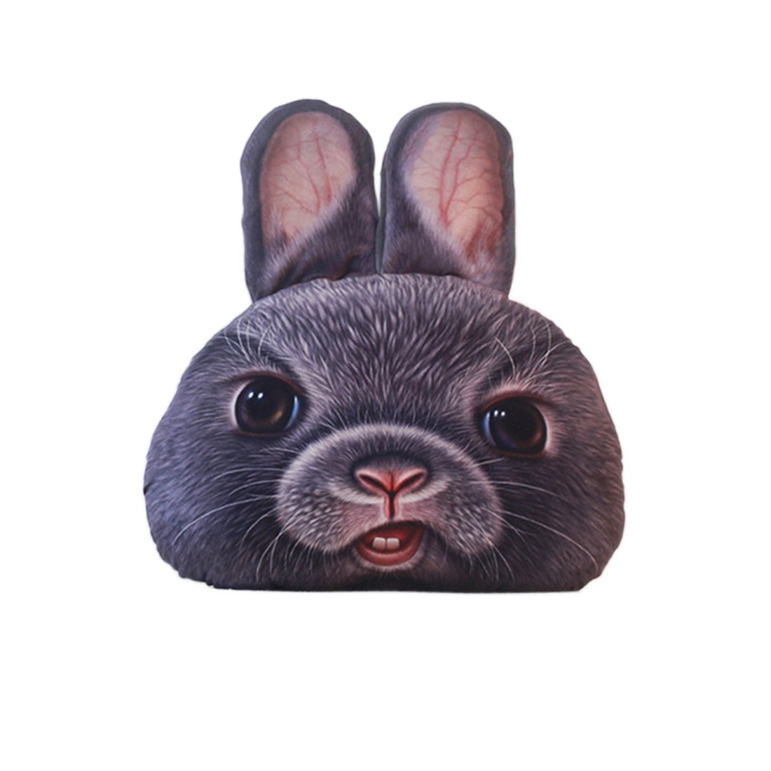 Beneking 3D Printed Animal Round Cushion Pillow Cute Plush Soft Toy Bear Rabbit Birthday Gift Trick Toys Car Home Office
