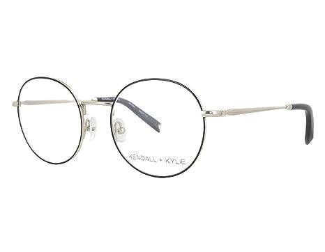 6c82920068d Amazon.com  Kendall + Kylie KKO117 770 49mm Black Gold Eyeglasses ...