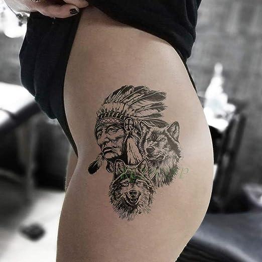 Conjunto de 4 Piezas Etiqueta engomada del Tatuaje Temporal a ...