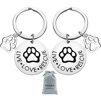 Amazon.com: Joyas de rescate para mascotas, llavero de ...