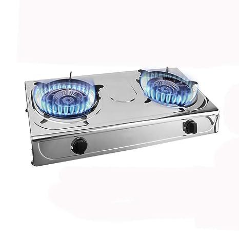 Belovedkai Propane Quemador Doble, Estufa de Gas de Camping de Acero Inoxidable Cocina de Gas
