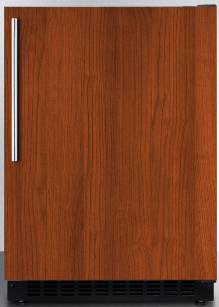 "Summit Appliance AL54IF Built-in Undercounter ADA Compliant 4.8 cu.ft. 24"" Wide All-refrigerator with Panel-ready Door, Black Cabinet, Door Storage and Digital Controls"