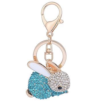 Bonito llavero Kawaii con forma de conejo y diamantes de ...