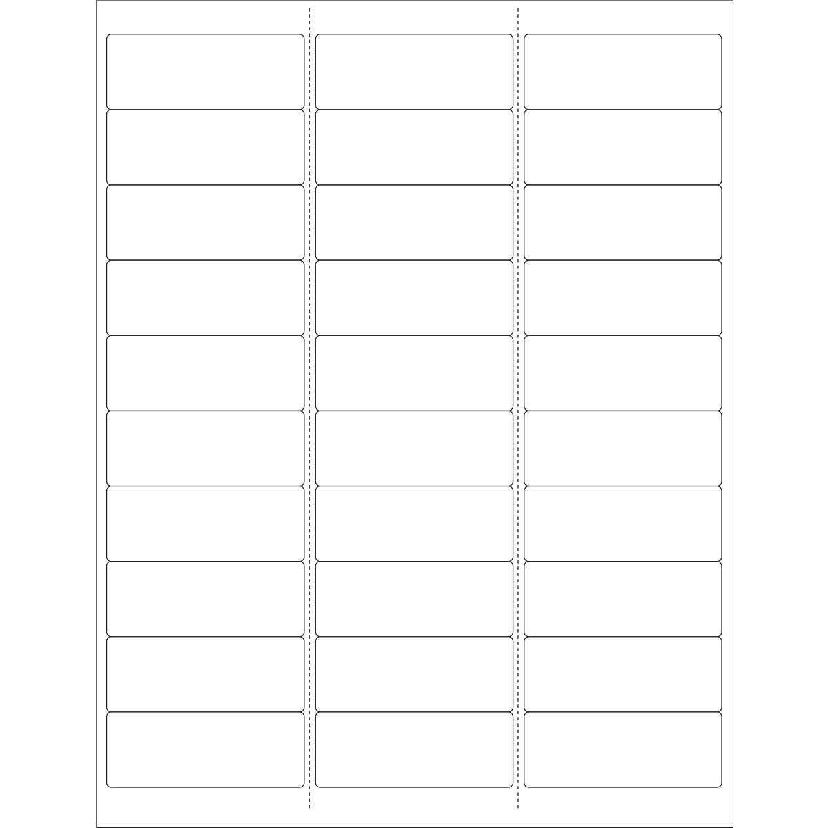PDC Healthcare DPSL1-258-MI Paper Laser Wristband and Label Sheet, 11'' x 8-1/2 Sheet Size, White (Box of 30000)