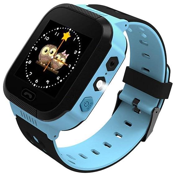 Teabelle-Reloj Inteligente para niños, rastreador GPS para niños niñas cumpleaños con cámara SIM Llamadas Anti-pérdida SOS Smartwatch Pulsera para ...