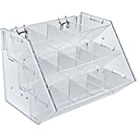 Azar Displays 223012 12-Compartment 3-Step Counter/Pegboard / Slatwall Tray