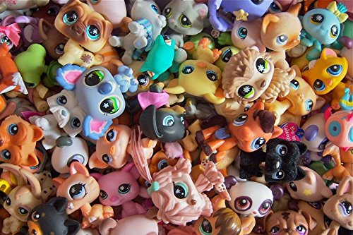 Littlest Pet Shop random Lot of 5 pets LPS mouse Dog Cat Horse and More (Littlest Pet Shops Free)