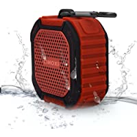 CIMOXI Portable Wireless Bluetooth Outdoor and Shower Speaker Y1, IPX4 Waterproof 5W Output with Suction Cup, Built-in Mic and 8 Hours Playtime-Red