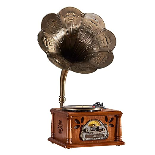 Gramófono Tocadiscos, 3 Velocidades 33/45/78RPM Puerto USB Apoyo ...
