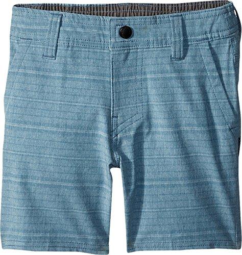 O'Neill Little Boys' Locked Quick Dry Hybrid Boardshort, Stripe Deep Teal, 2T by O'Neill