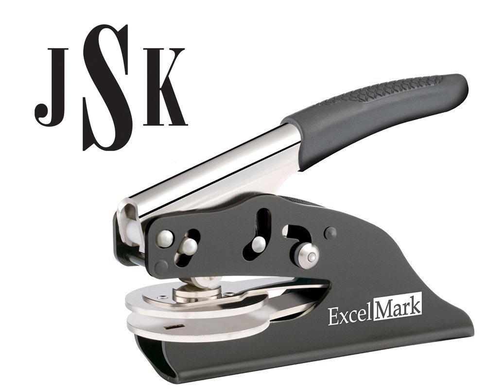 ExcelMark Hand Held Embosser - Monogram Gift Embosser – Style 24 Discount Rubber Stamps EM003E-24