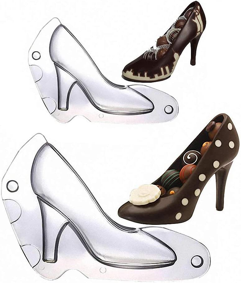 3D High Heel Shoes Chocolate Mold DIY Cake Decor Candy Cookies Maker Mould