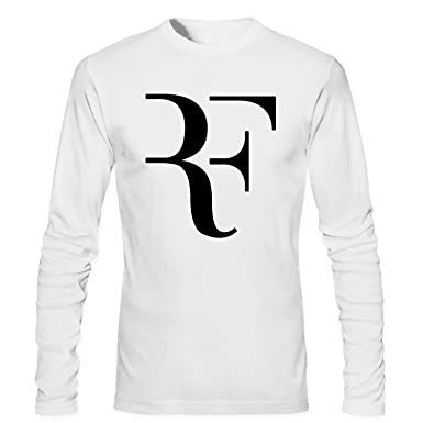 0444b7bf Amazon.com: CONOC Men's Perfect RF Roger Federer Wimbledon Tennis Long  Sleeve T Shirt: Clothing