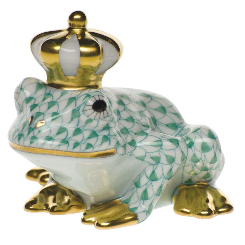 Herend Frog Prince Green Fishnet