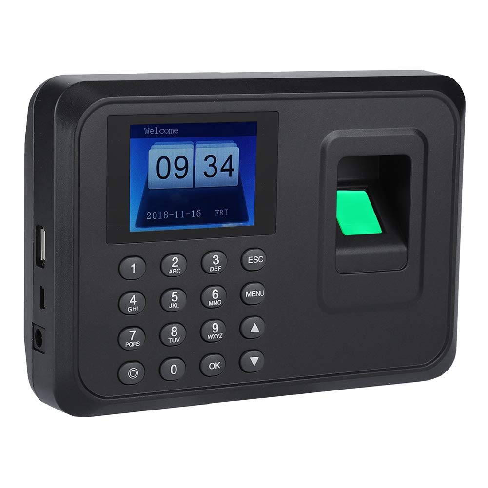 2.4 Zoll TFT-LCD-Bildschirm-Fingerabdruck-Uhr-Anwesenheits-Maschinen-Recorder 100-240V(schwarz) Eboxer