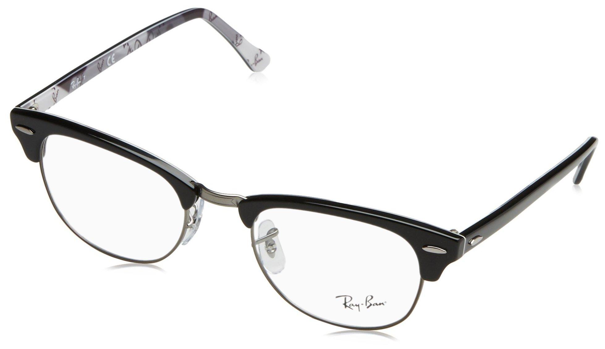 Ray-Ban Clubmaster Square Eyeglasses, Tortoise, 49 mm
