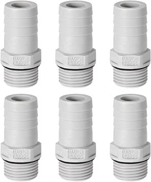 uxcell ABS Hose Barb Fitting Coupler Black 16mm Barb x G3//4 Female Thread Pipe Adapter