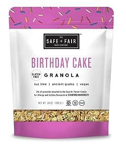 Safe and Fair Birthday Cake Granola, 24 Ounce