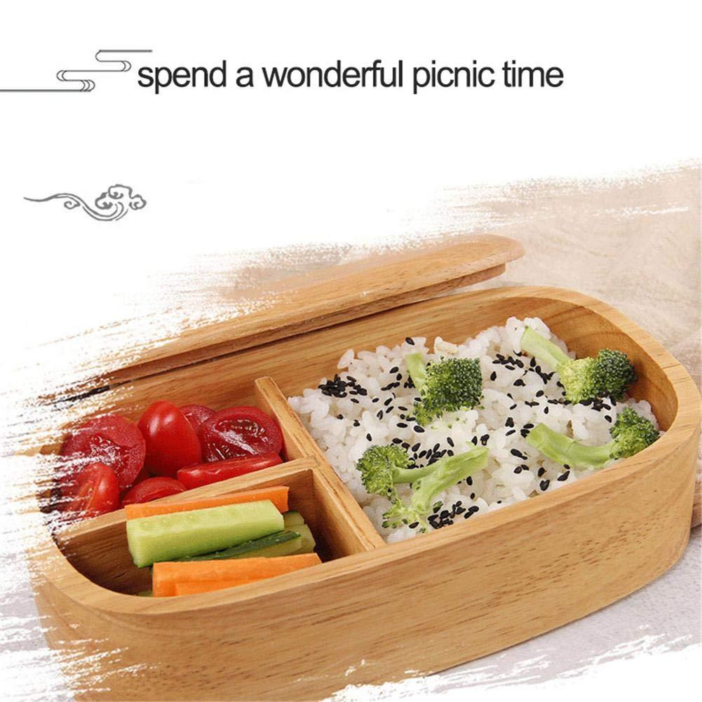 Bento Box Tradizionale In Legno Naturale Bento Lunch Box Doppio Strato In Stile Giapponese Cibo Frutta Sushi Sandwich Container Per La Scuola Di Viaggio Campeggio con 1 Cinghia PCS E 1 PCS Bacchette