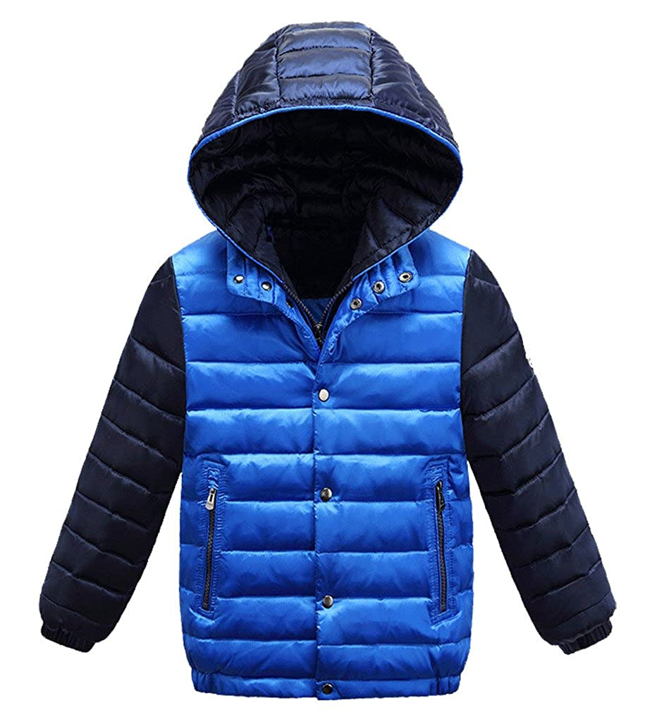 Dolpind Little Boys Winter Coat With Hooded Puffer Thickened Down Jacket