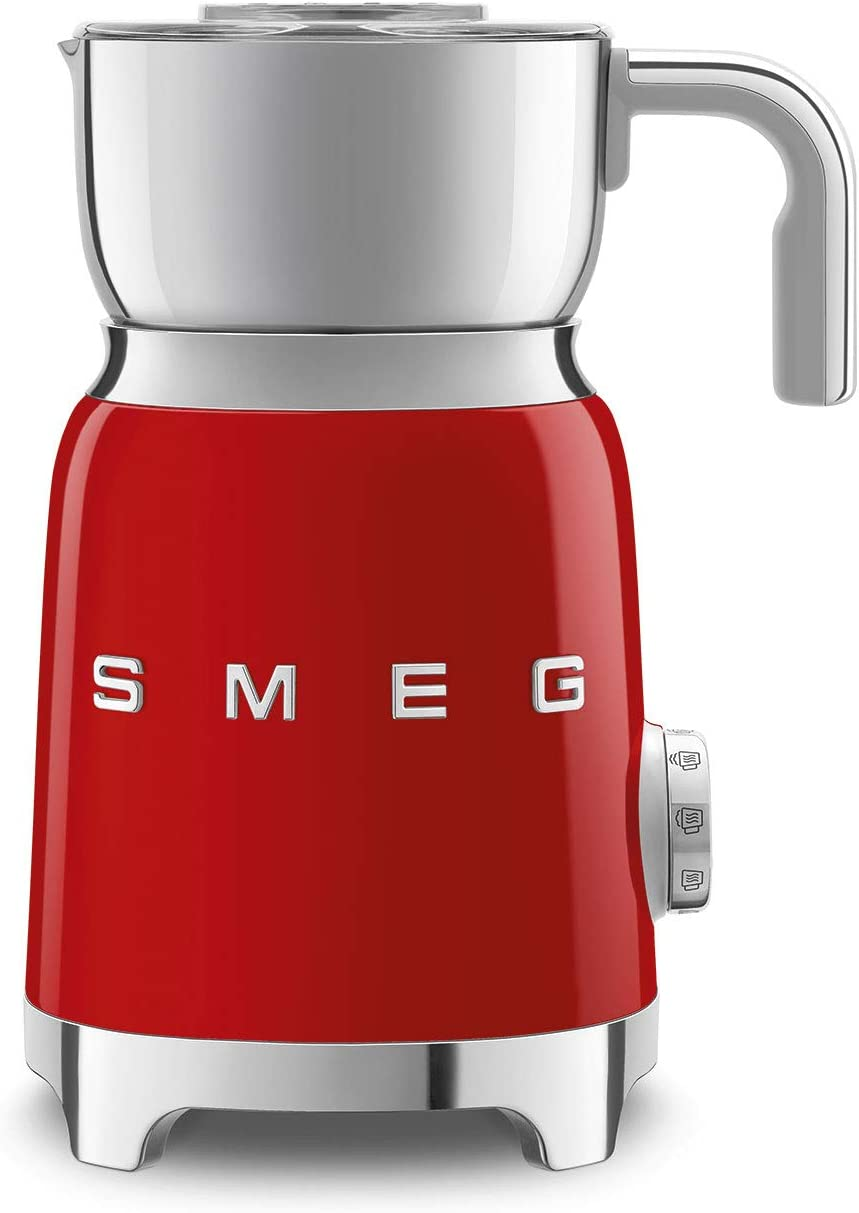 Smeg 50's Retro Style Aesthetic Milk Frother, MFF01 (Red)