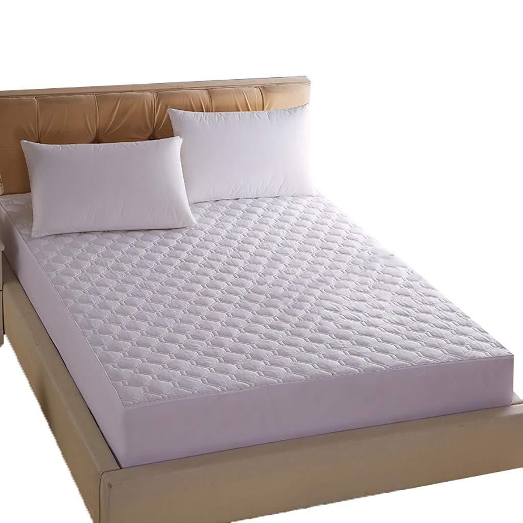 LFY Protector de colchón Acolchado, Transpirable, Blanco/Rosa, tamaño único (90 × 200 cm) Cubierta de Cama (Color : Pink): Amazon.es: Hogar