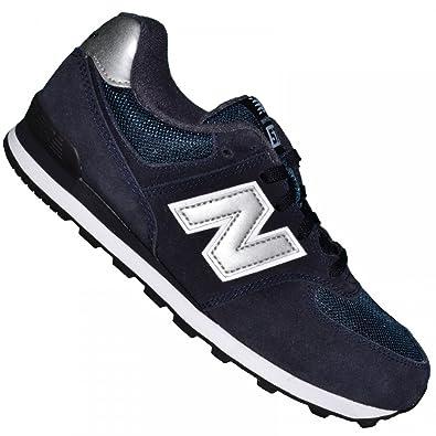 8ece78fde New Balance - Basket Sneakers - Femme - Nb 574 Nsg - Navy Argent ...